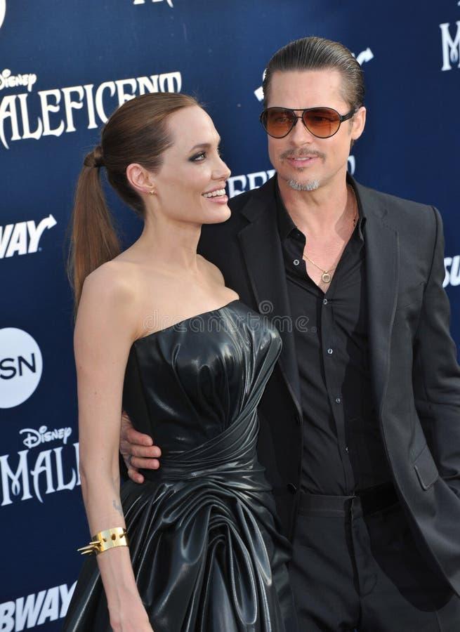 Angelina Jolie & Brad Pitt stock foto's