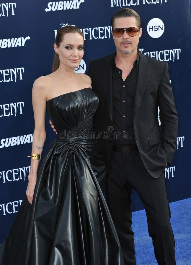 Angelina Jolie & Brad Pitt royalty-vrije stock foto