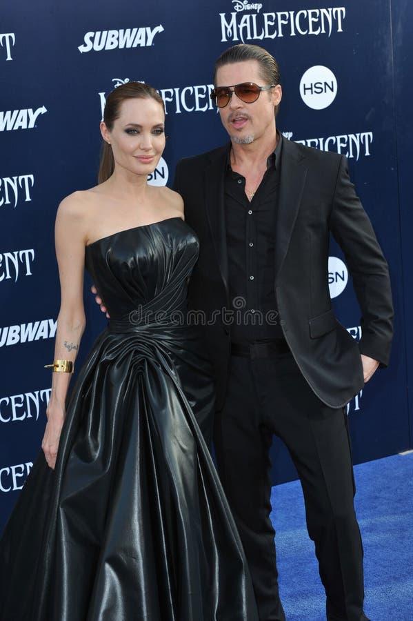 Angelina Jolie & Brad Pitt royalty-vrije stock afbeelding