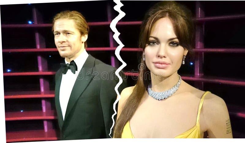 Angelina Jolie And Brad Pitt Breakup stock foto