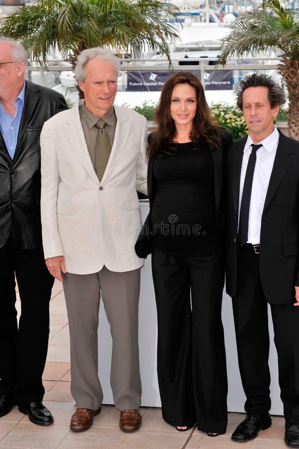 Angelina Jolie, Brian Grazer, Clint Eastwood obraz royalty free