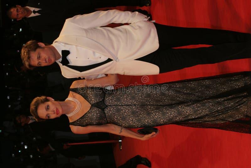 Angelina Jolie e Brad Pitt immagini stock