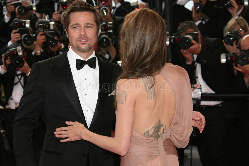 Download Angelina Jolie e Brad Pitt foto de stock editorial. Imagem de beleza - 12806143