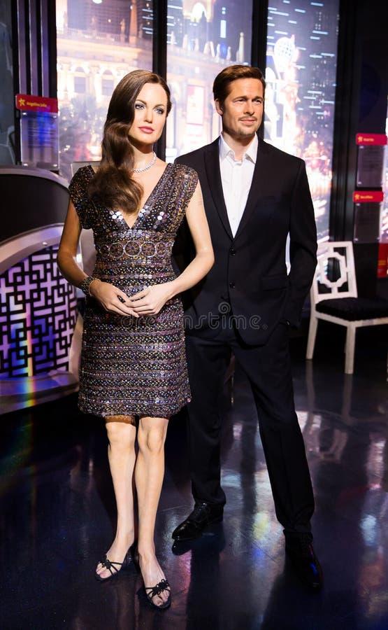 Angelina Jolie e Brad Pitt fotografie stock libere da diritti