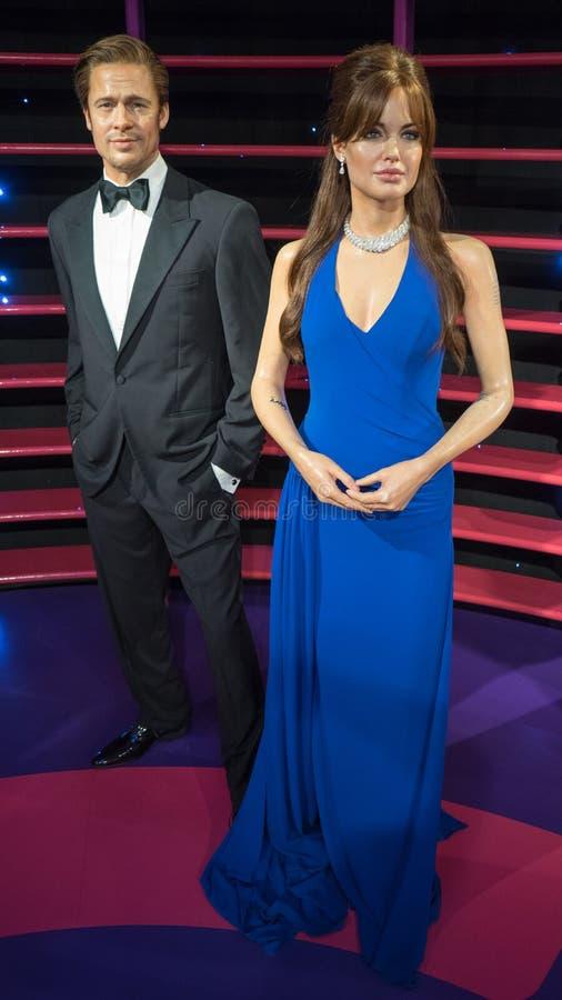 Angelina Jolie e Brad Pitt fotografie stock