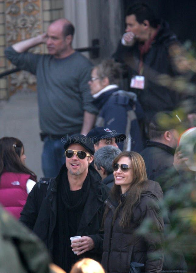 Angelina Jolie en Brad Pitt royalty-vrije stock afbeelding