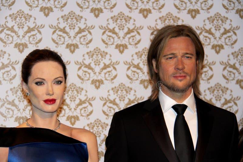 Angelina Jolie en Brad Pitt stock foto