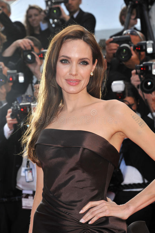ANGELINA JOLIE, Brad Pitt, Angelina Jolie foto de archivo libre de regalías