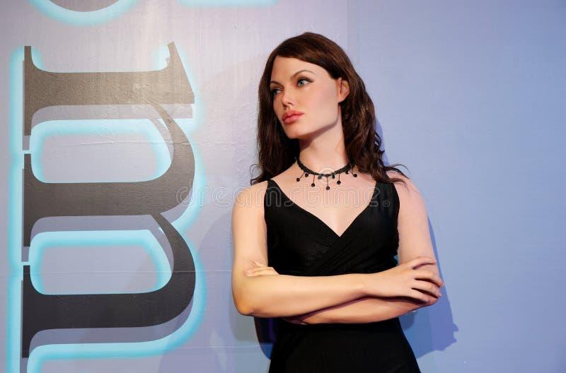 Angelina Jolie, estátua da cera, figura de cera, modelo de cera fotografia de stock royalty free