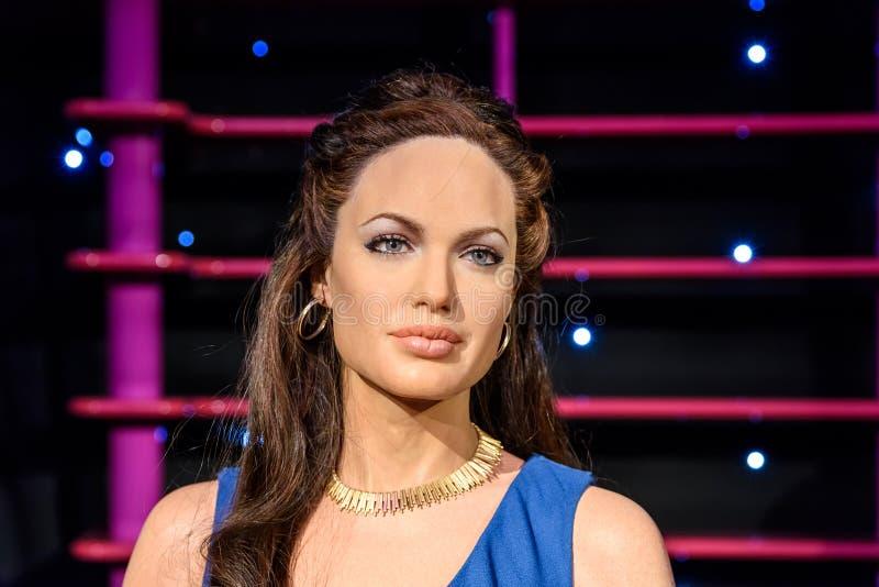 Angelina Jolie Figurine At Madame Tussaud-Wasmuseum royalty-vrije stock fotografie