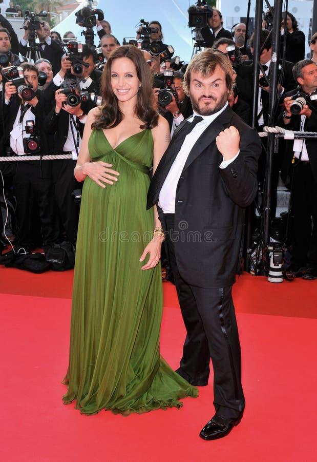 Angelina Jolie, Jack Black stock foto