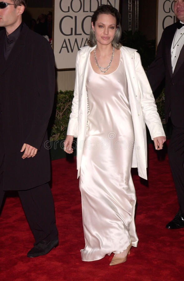 Angelina Jolie. 23JAN2000: Actress ANGELINA JOLIE at the Golden Globe Awards where she won for Best Supporting Actress in a Movie for Girl, Interrupted. Jean stock image