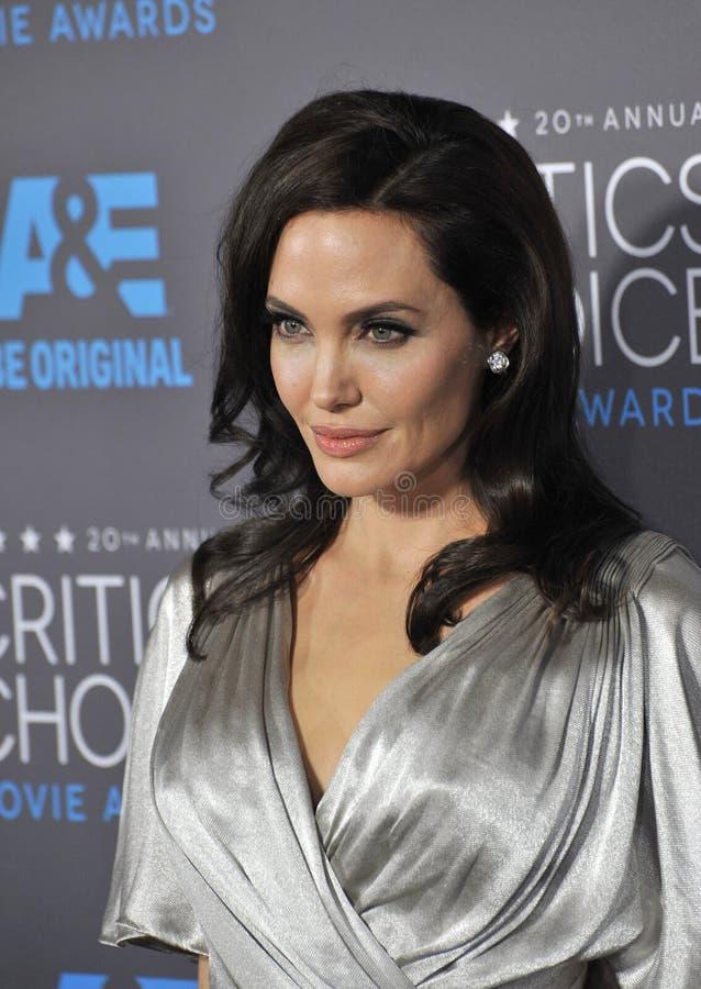 Angelina Jolie. LOS ANGELES, CA - JANUARY 15, 2015: Angelina Jolie at the 20th Annual Critics' Choice Movie Awards at the Hollywood Palladium stock images