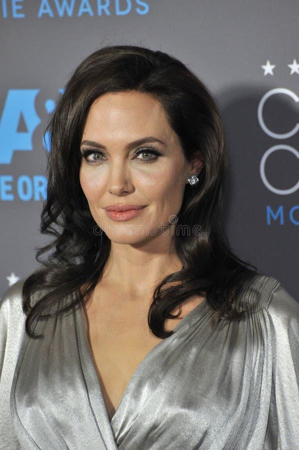 Angelina Jolie. LOS ANGELES, CA - JANUARY 15, 2015: Angelina Jolie at the 20th Annual Critics' Choice Movie Awards at the Hollywood Palladium stock photo
