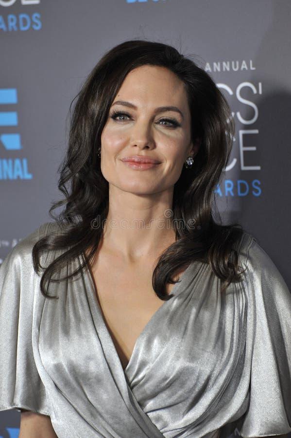 Angelina Jolie. LOS ANGELES, CA - JANUARY 15, 2015: Angelina Jolie at the 20th Annual Critics' Choice Movie Awards at the Hollywood Palladium stock photography