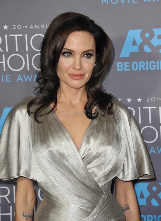 Angelina Jolie. LOS ANGELES, CA - JANUARY 15, 2015: Angelina Jolie at the 20th Annual Critics' Choice Movie Awards at the Hollywood Palladium stock image