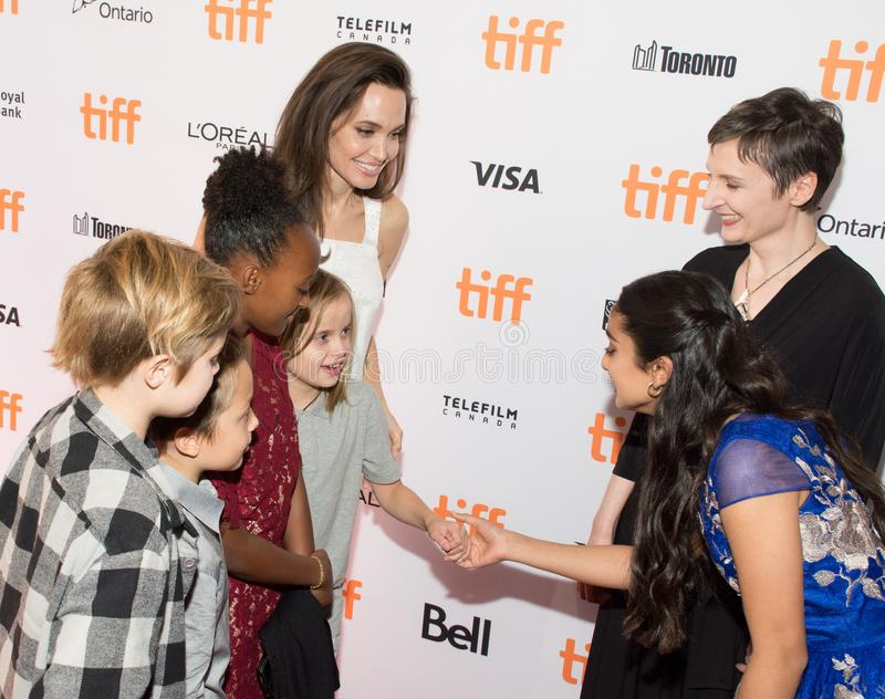 Angelina Jolie at Premiere of `The Breadwinner` for TIFF17 royalty free stock photos