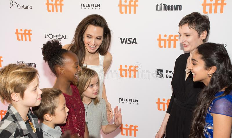 Angelina Jolie at Premiere of `The Breadwinner` for TIFF17 royalty free stock photo
