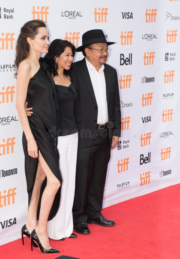Angelina Jolie World Premiere of `First They Killed My Father` at Toronto International Film Festival. Angelina Jolie at the Premiere of Netflix`s Film`s `First royalty free stock photo