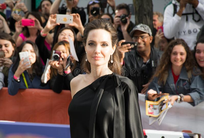 Angelina Jolie World Premiere of `First They Killed My Father` at Toronto International Film Festival. Angelina Jolie at the Premiere of Netflix`s Film`s `First stock photo