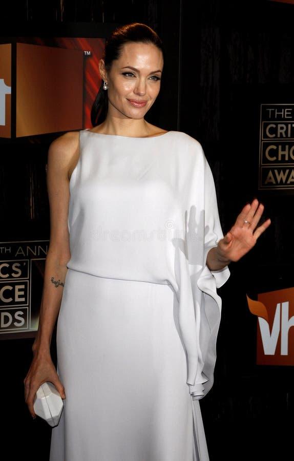 14th Annual Critics` Choice Awards. Angelina Jolie at the 14th Annual Critics` Choice Awards held at the Santa Monica Civic Center in Santa Monica on January 8 stock images