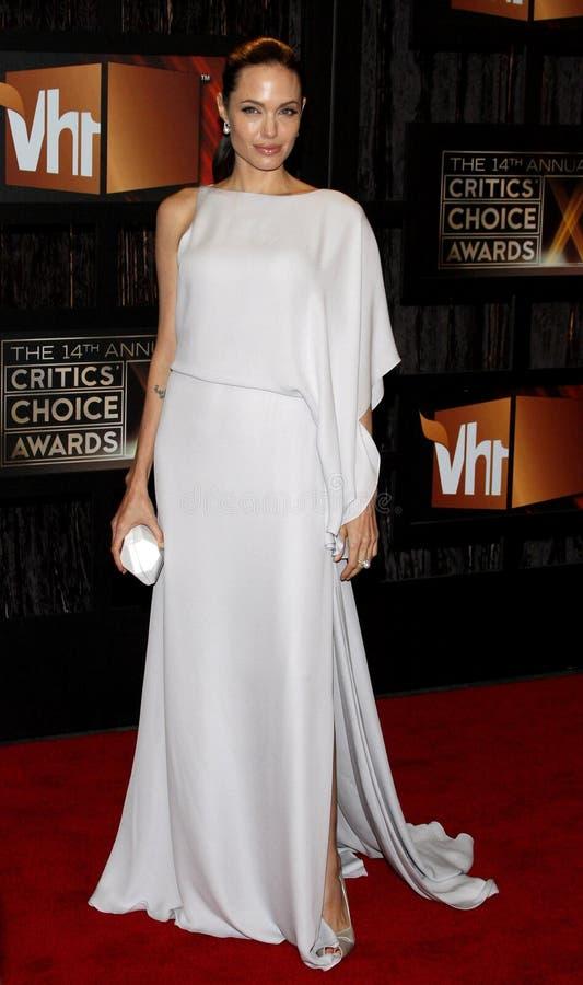 14th Annual Critics` Choice Awards. Angelina Jolie at the 14th Annual Critics` Choice Awards held at the Santa Monica Civic Center in Santa Monica on January 8 royalty free stock photo