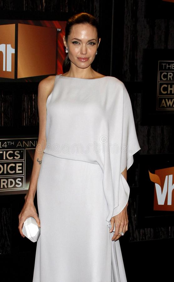 14th Annual Critics` Choice Awards. Angelina Jolie at the 14th Annual Critics` Choice Awards held at the Santa Monica Civic Center in Santa Monica on January 8 royalty free stock photos