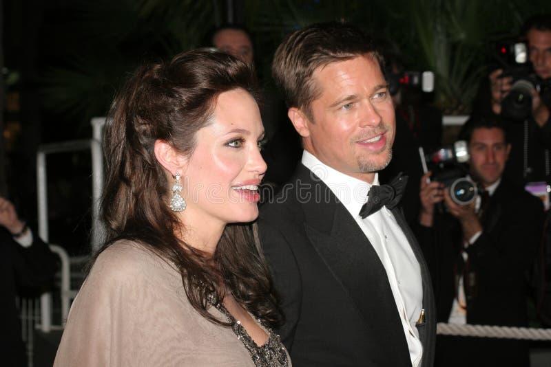 Angelina Jolie und Brad Pitt lizenzfreie stockbilder