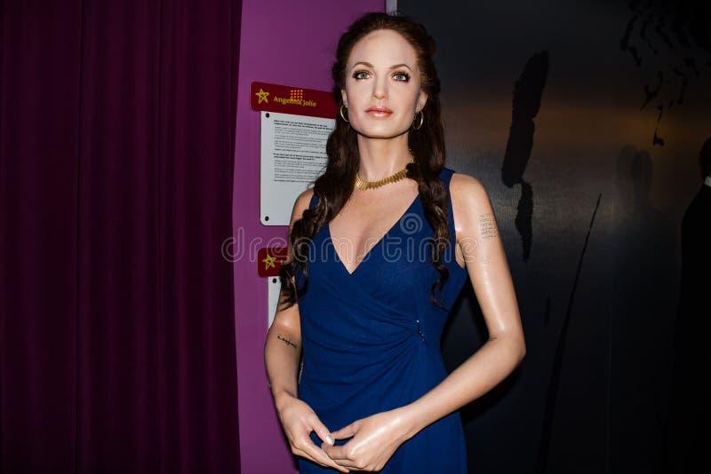 Angelina Jolie-wascijfer, Mevrouwtussaud's Museum Wenen stock afbeeldingen