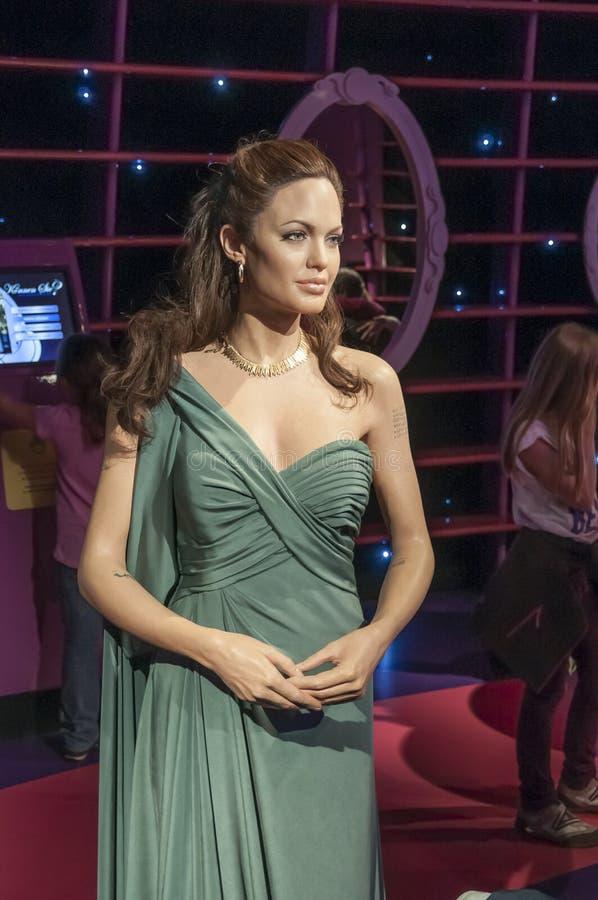 Angelina Jolie. Wax figure at Madame Tussauds Wien Austria stock photo
