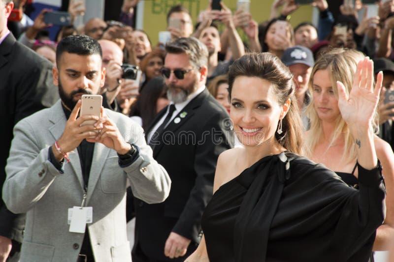Angelina Jolie World Premiere de ` d'abord ils ont tué mon ` de père au festival de film international de Toronto photo stock