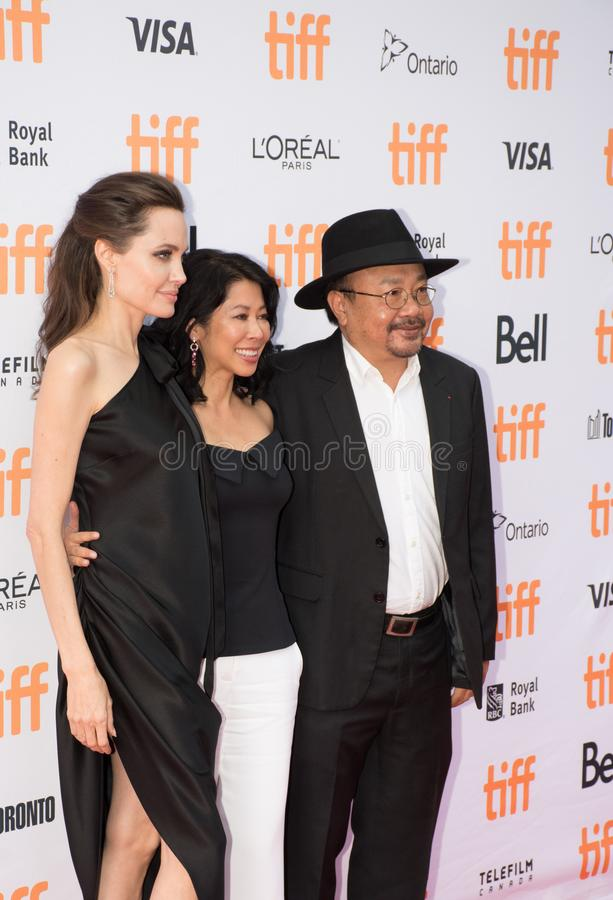 Angelina Jolie World Premiere of `First They Killed My Father` at Toronto International Film Festival. Angelina Jolie at the Premiere of Netflix`s Film`s `First royalty free stock images