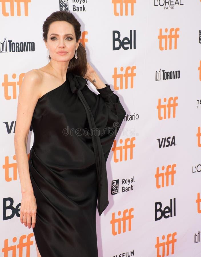 Angelina Jolie World Premiere van ` doodden zij eerst Mijn Vader ` bij Internationaal de Filmfestival van Toronto stock afbeelding