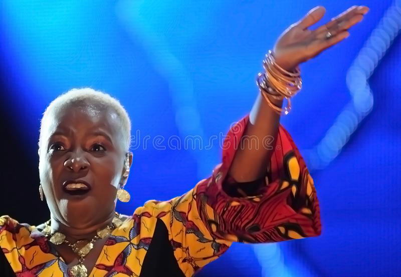 Angelique Kidjo - chanteur image stock