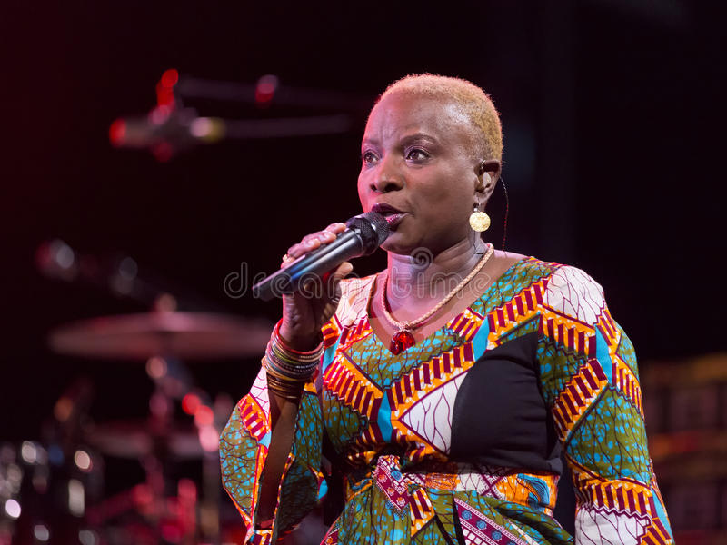Angelique Kidjo performs live on 28th April Jazz. ESPOO,FINLAND - APRIL 27, 2014 Angelique Kidjo performs live on 28th April Jazz. She is a Grammy Award winning stock image