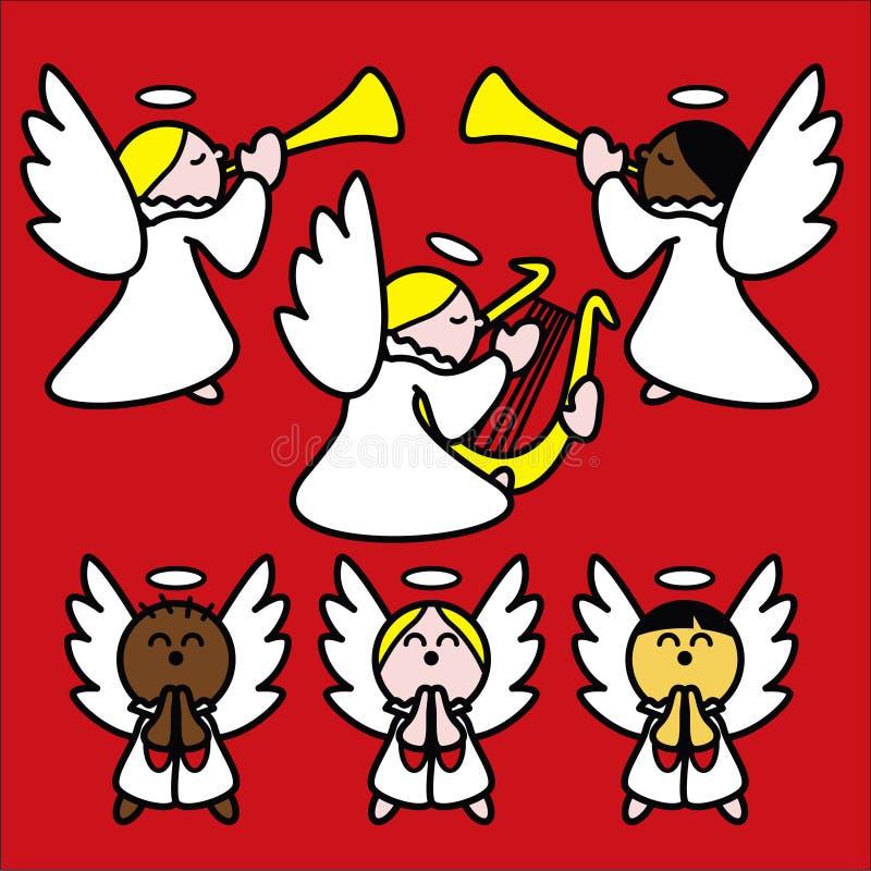 angelitos красные иллюстрация штока