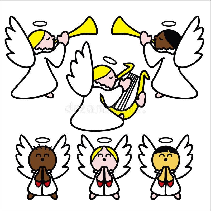 angelitos stock illustrationer