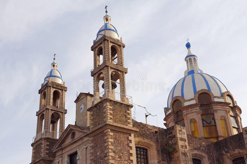 Angelitos kościół Ja, tulancingo obraz stock