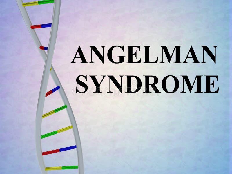 ANGELMAN-SYNDROMbegrepp royaltyfri illustrationer