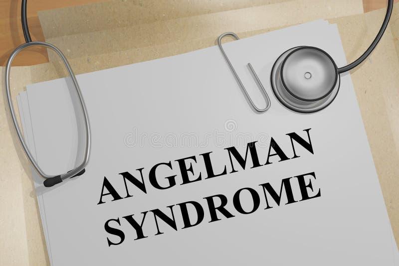 ANGELMAN-SYNDROMbegrepp stock illustrationer