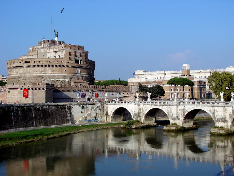 angelo castel rome s royaltyfria foton