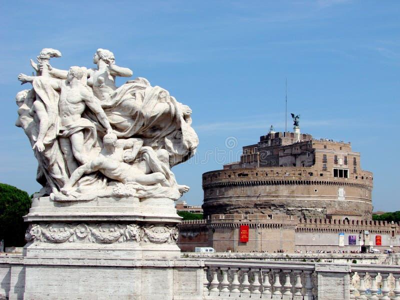 angelo castel rome s arkivfoton