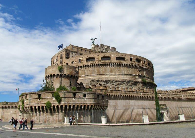 angelo castel sant rome royaltyfri fotografi