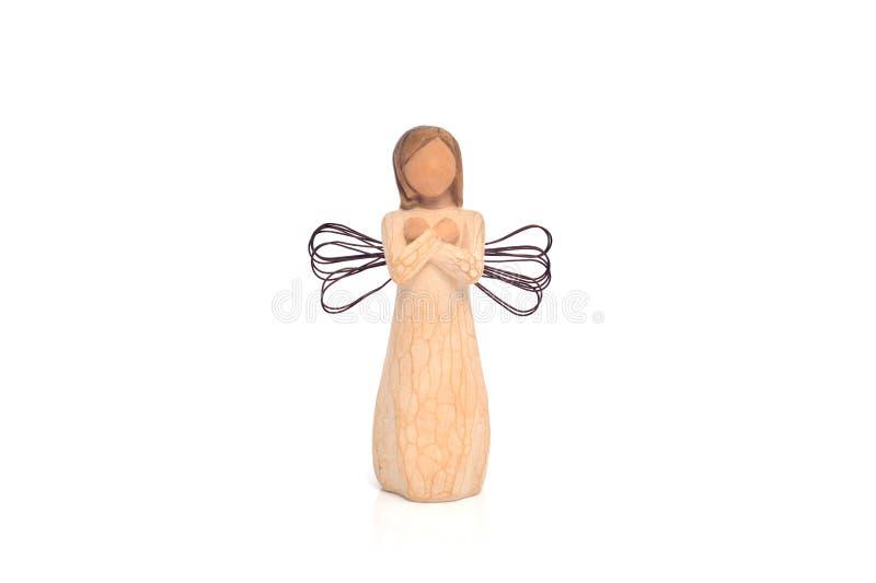Angelo d'annata di volo del giocattolo di Natale immagini stock