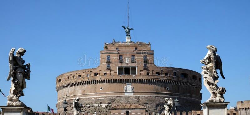 ` Angelo de Castel Sant em Roma foto de stock