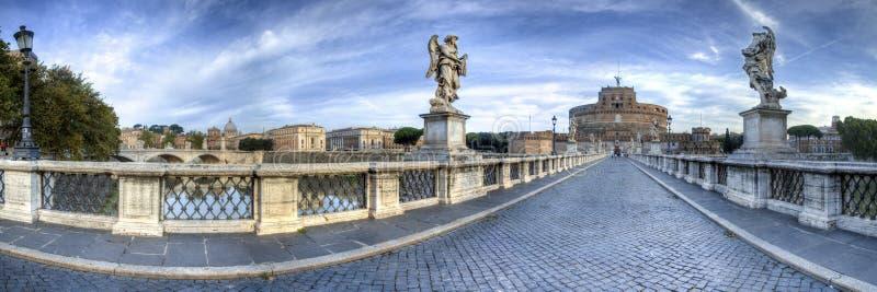 ` Angelo de Castel Sant em Roma, Itália fotografia de stock