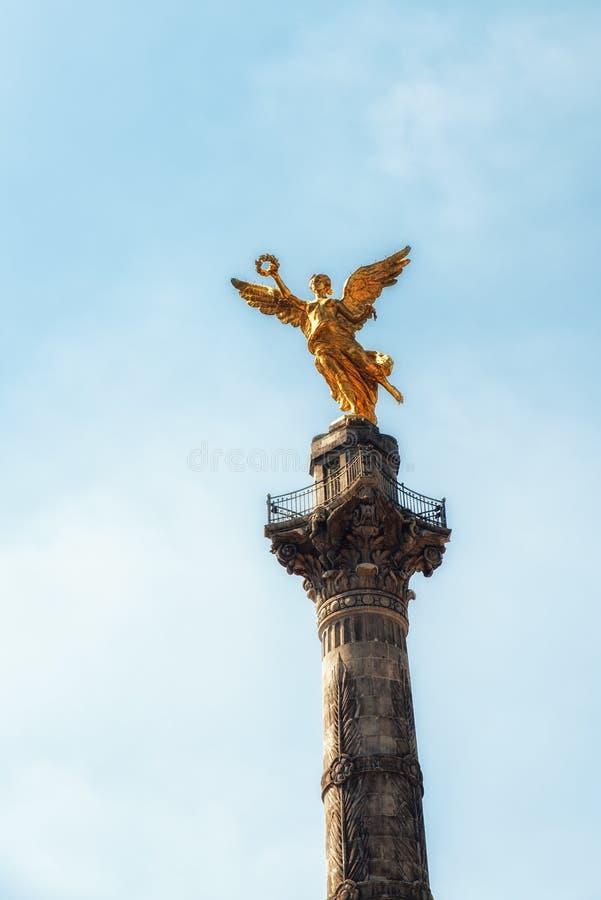 Angelo del monumento di indipendenza - Città del Messico, Messico fotografie stock