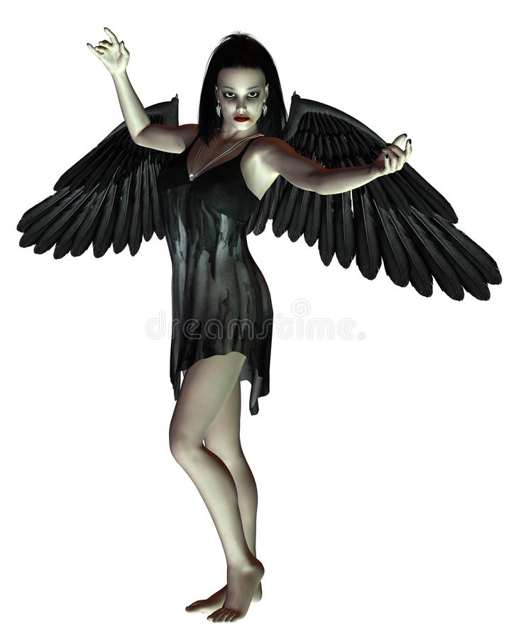 Angelo della morte - braccia alzate royalty illustrazione gratis