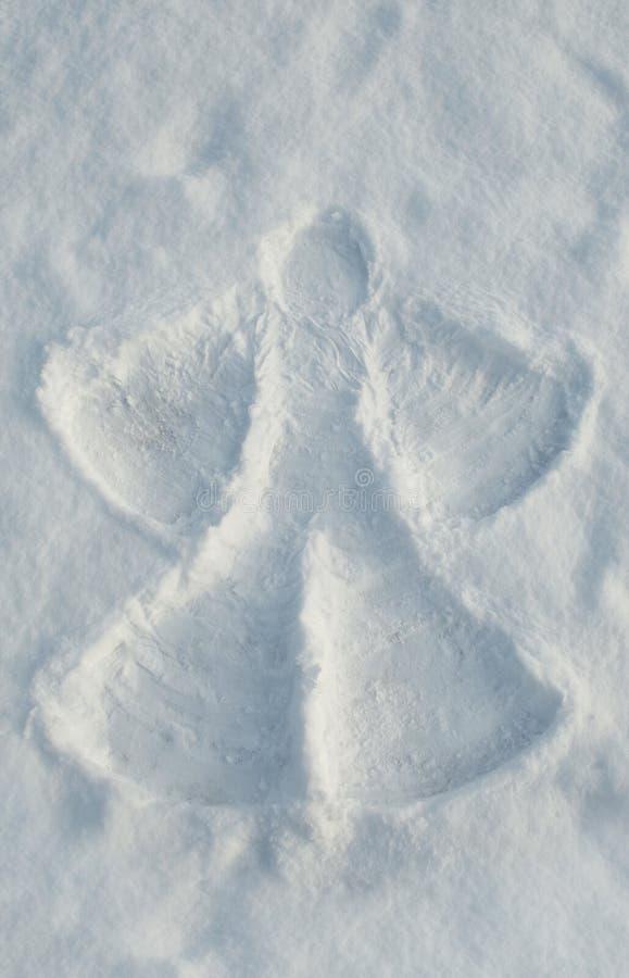 Angelo della neve fotografie stock libere da diritti
