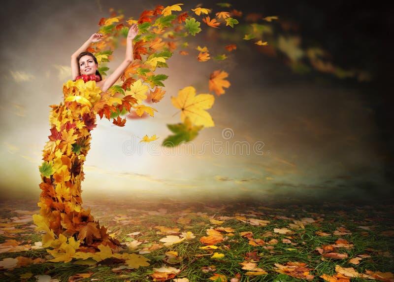 Angelo di autunno fotografie stock
